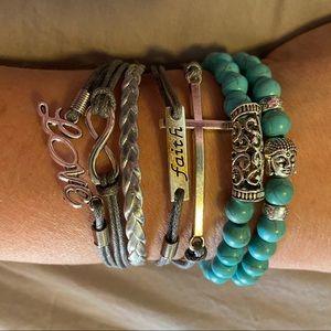 CUSTOM STACKABLE Bracelets, 3 pieces